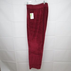 PAPPAGALLO PLUS SIZE 3X TRACK PANTS RED WINE